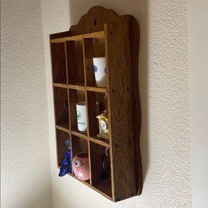 Vintage wooden wall display